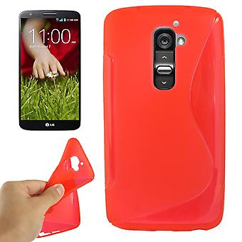 Mobile phone shell protection TPU for mobile LG Optimus G2 Red