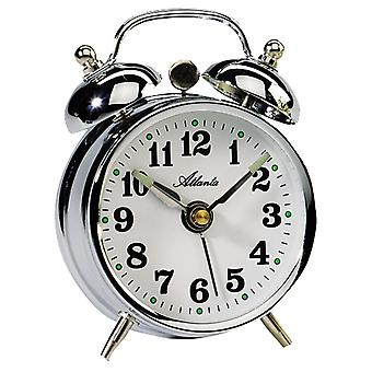 Atlanta 1068/19 mechanical alarm bell alarm clock twin Bell alarm clock silver