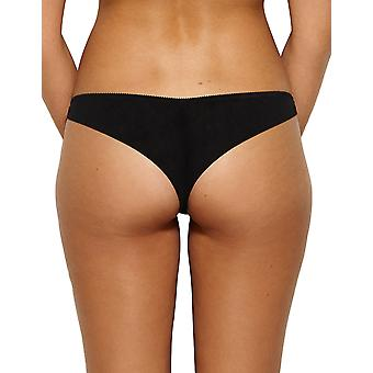 Gossard 15003 Women's VIP Sparkle Black Embroidered Knickers Panty Brazilian Brief