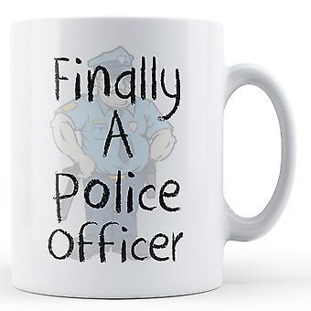 Endelig en politibetjent - trykte krus