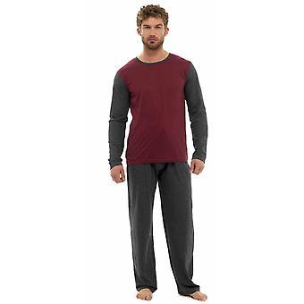 トム フランク メンズ ジャージ コットン 2 トーン パジャマ ラウンジを着用します。