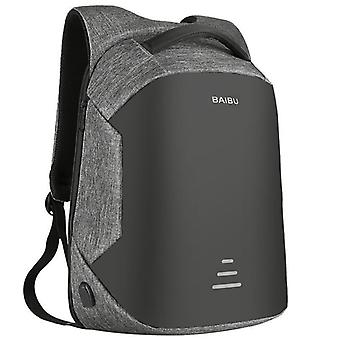 Waterproof anti-theft backpack for 16 inch Laptop-Grey