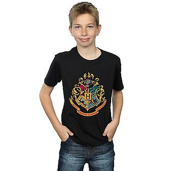 Harry Potter gutter Galtvort Crest gull blekk t-skjorte