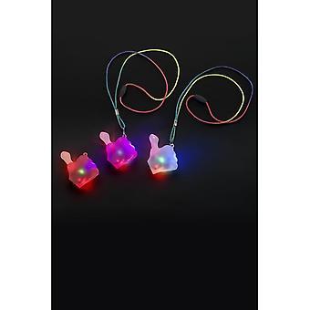 Succhiamento del pollice lampeggiante collana, colori assortiti, illuminano