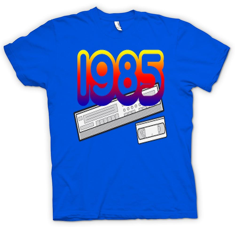 Mens T-shirt-1985 videorecorder VCR