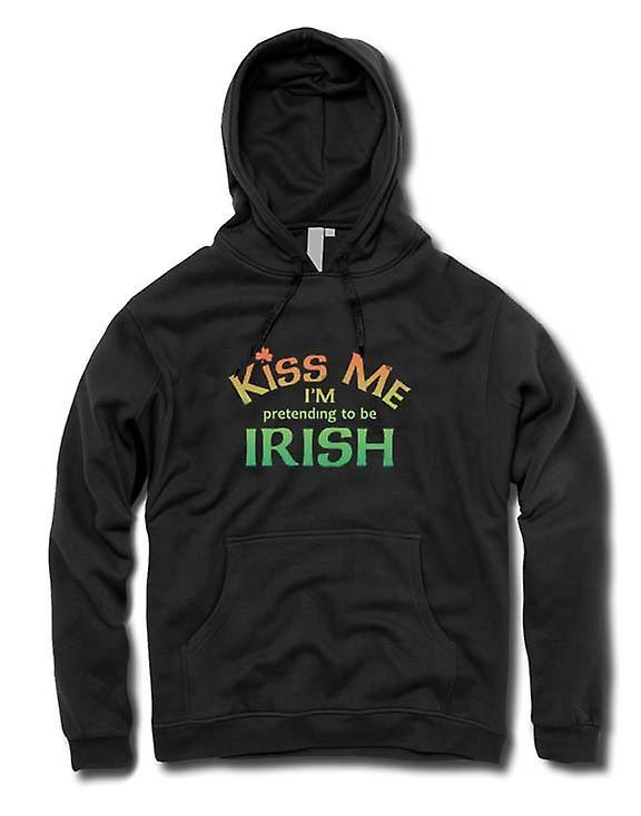 Mens Hoodie - Kiss me ik ben voorwenden om Iers