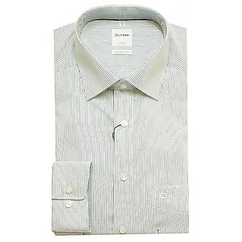 Olymp Shirt 1018 24 45 Olive With White