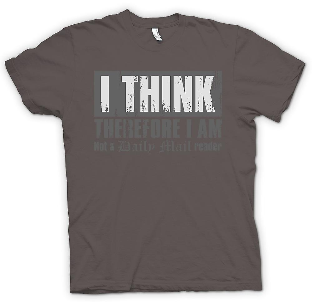 Womens T-shirt - I Think Therefore I Am Not A Daily Mail