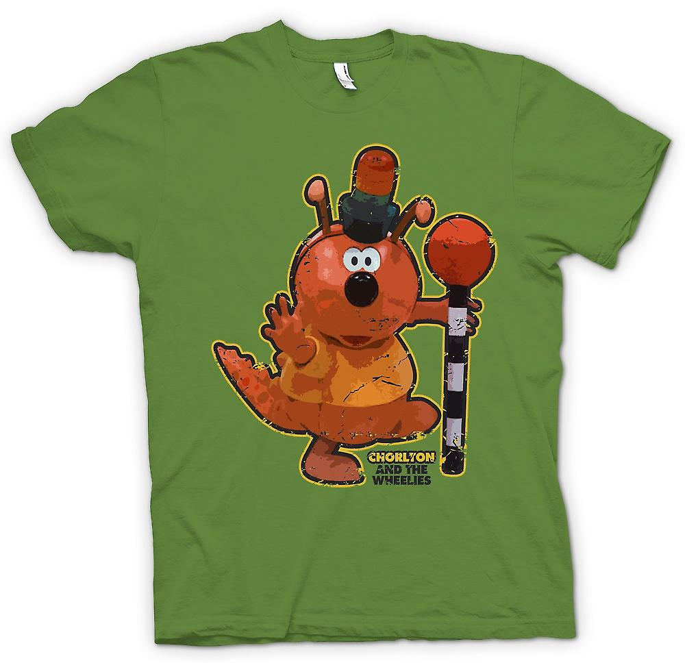 Mens T-shirt-Chorlton - Chorlton et les Wheelies - Retro