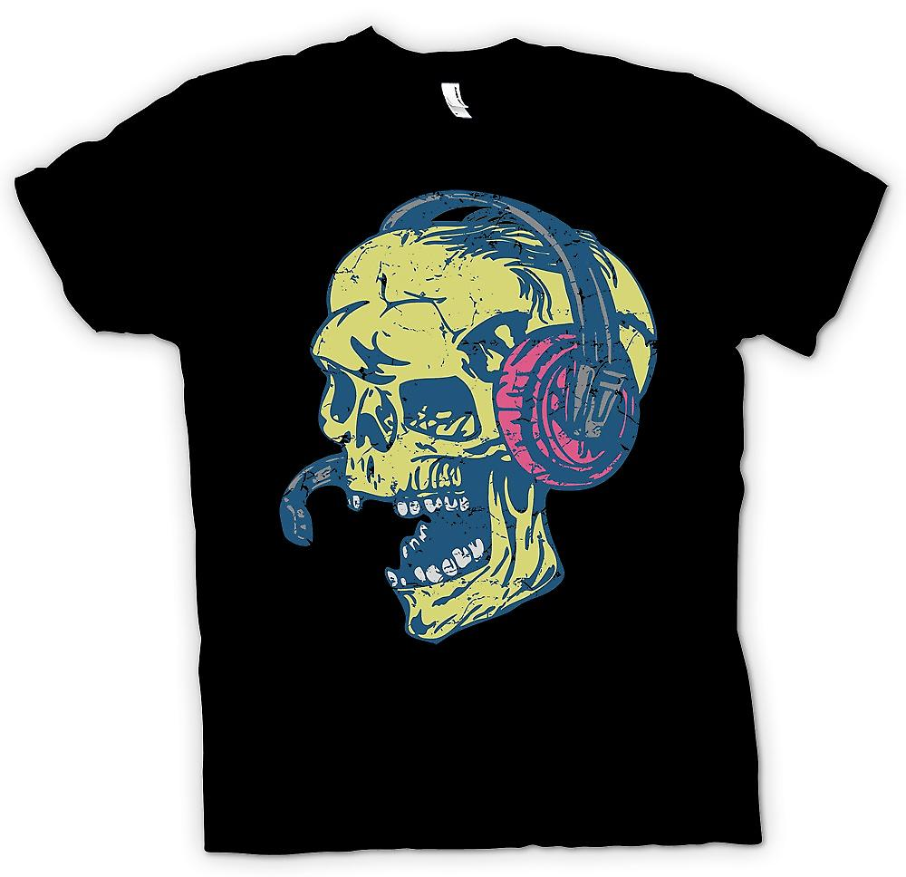 Womens T-shirt - Skull DJ - Skull And Bones