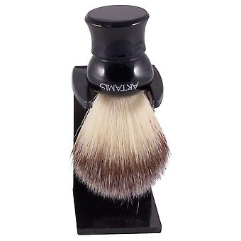 Artamis Synthetic Hair Small Shaving Brush with Drip Stand - Black