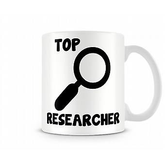 Dekorative Writing Top Researcher Gedruckt Text-Becher