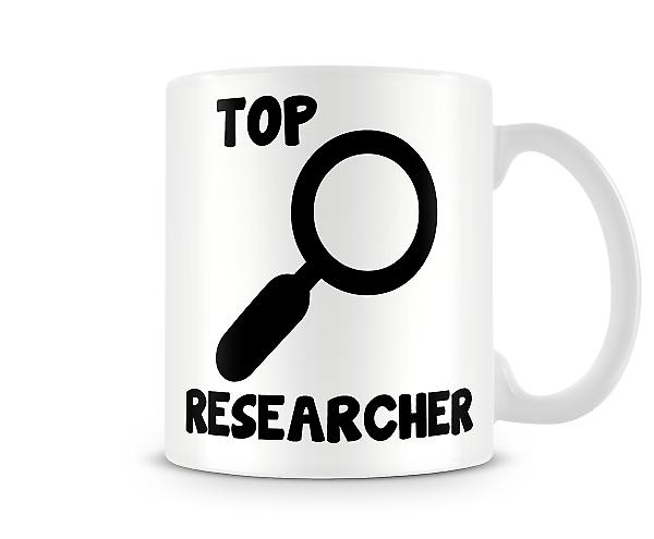 Decorative Writing Top Researcher Printed Text Mug