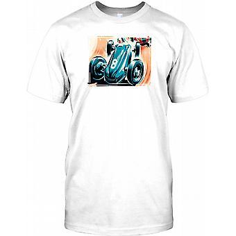 Retro Monaco Racing Car Design Mens T Shirt