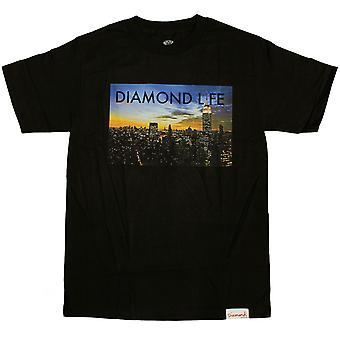 Diamond leverans Co Diamond liv NY T-shirt svart