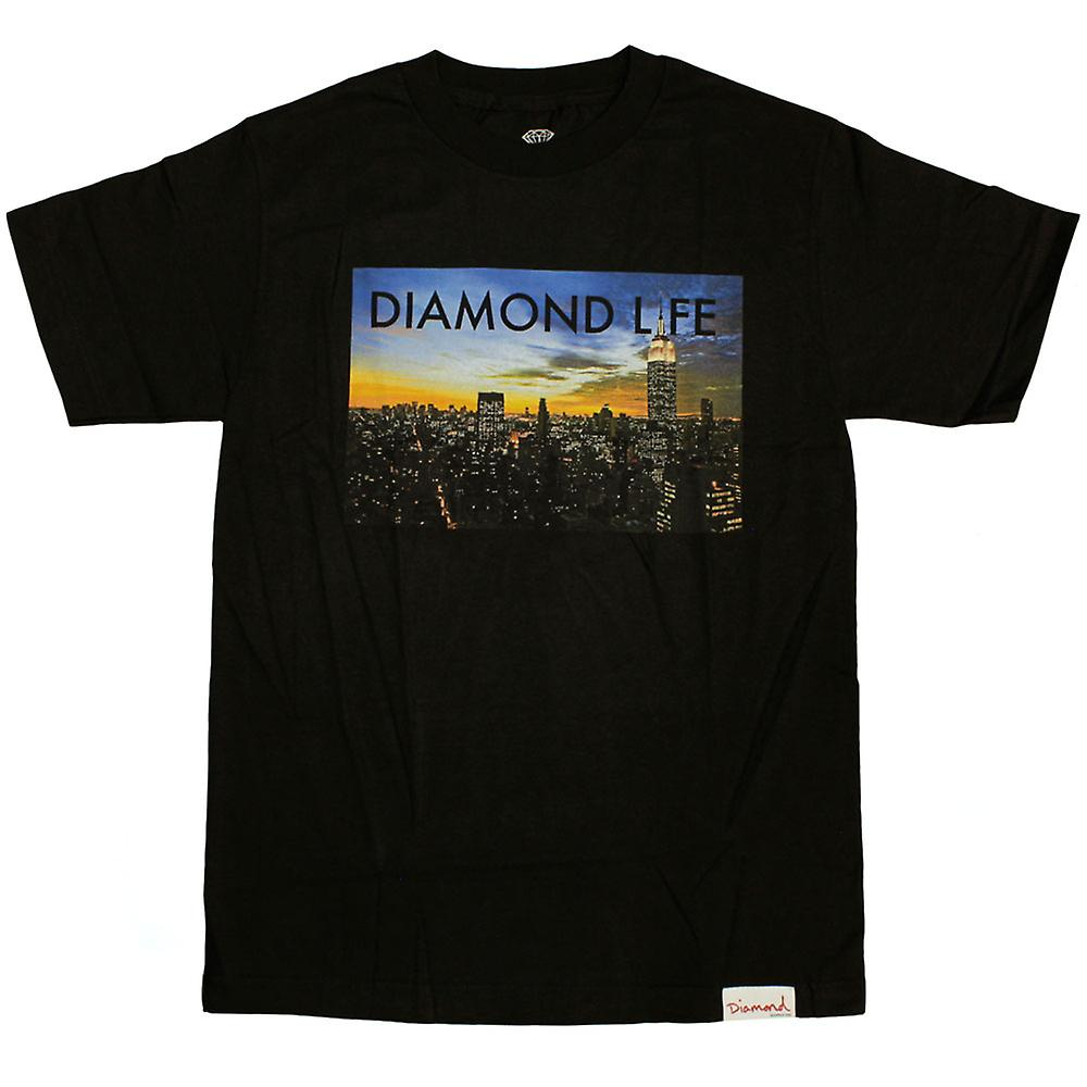 Diamond Supply Co Diamond Life NY T-shirt Black