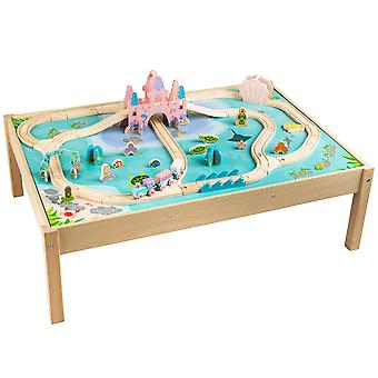 Bigjigs Rail Mermaid Train Set and Table with Accessories