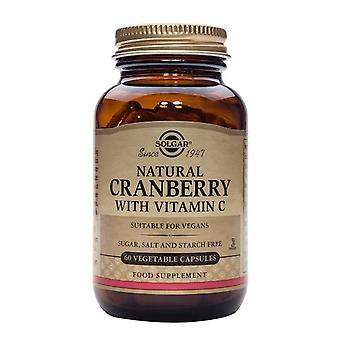 Solgar, Natural Cranberry with Vitamin C Vegetable Capsules, 60