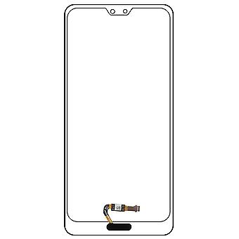 Home button + Flat Cable for Huawei P20 / P20 Pro - Black