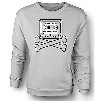 Womens Sweatshirt Home Taping piraterij - Funny