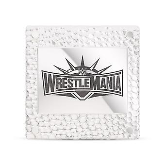 Wrestle Mania - Wwe Wrestlemania 35 Square Pin In Sterling Silver