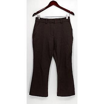 G.I.L.I. got it love it Women's Pants Crop Flare Ponte Brown A293329