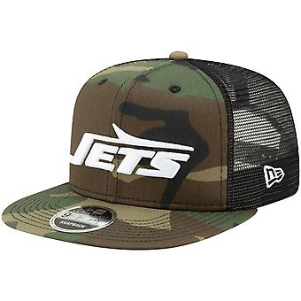 Throwback New York Jets mesh 9Fifty SnapBack Cap hout Camo