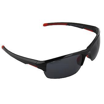 Sonnenbrille Sport Rechteck polarisierendes Glas schwarz rot FREE BrillenkokerS328_2