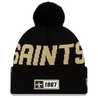 New Era Nfl New Orleans Saints 2019 Sideline Road Sport Knit
