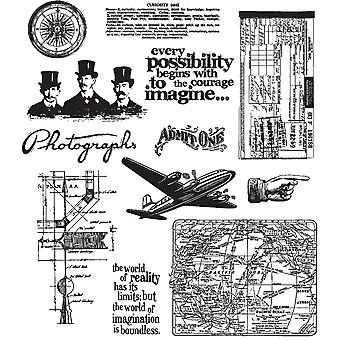 Tim Holtz Large Cling Rubber Stamp Set Warehouse District Cms Lg 124
