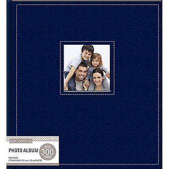 K&Company 5 Up Faux Leather Photo Album -Navy 30706606