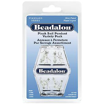Pendant Pinch Bail Value Pack 18 Pkg Silver 327B 199