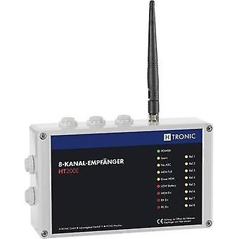 Wireless receiver 8-channel Frequency 868.35 MHz, 869.05 MHz, 869.55 MHz H-Tronic 1618250 Max. range (open field) 200 m