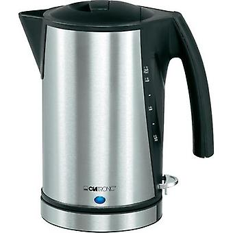 Kettle cordless Clatronic WKS 3288 Silver brushed, Black