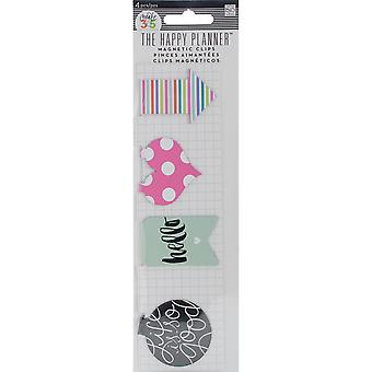 Create 365 Happy Planner Magnetic Clips 4/Pkg-Hello Stripes MAGC-03