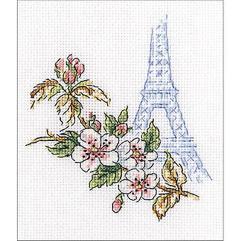 Window To Paris Counted Cross Stitch Kit-3.75