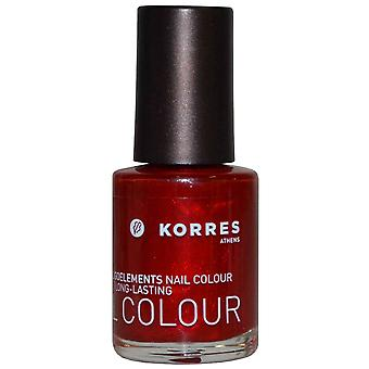 Korres Nail Color High Shine Long Lasting 10ml Metallic Red (#56)