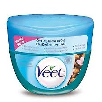 Veet Depilatory wax gel Sensitive Skin Almond Oil 250Ml