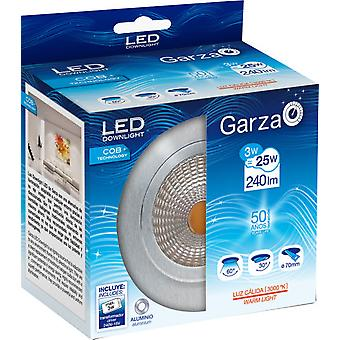 Garza 3W Recessed Led COB 240Lm 60 30K Aluminum (Home , Lighting , Light bulbs and pipes)
