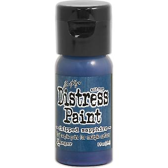 Distress Paint Flip Top 1oz-Chipped Sapphire TDF-52982