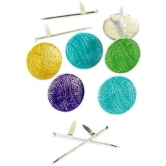 Eyelet Outlet Shape Brads 12/Pkg-Knitting QBRD2-158