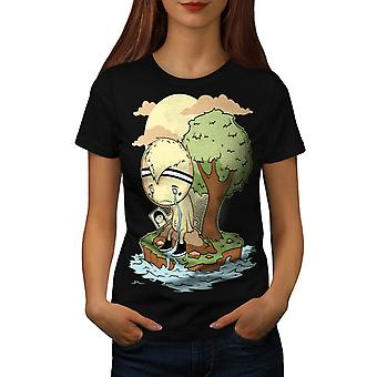 Wellcoda | Cry Me A River Woeful Dejected  Womens Black T-Shirt