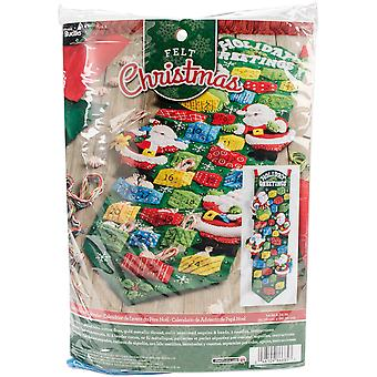 Santa Advent Calendar Felt Applique Kit-9