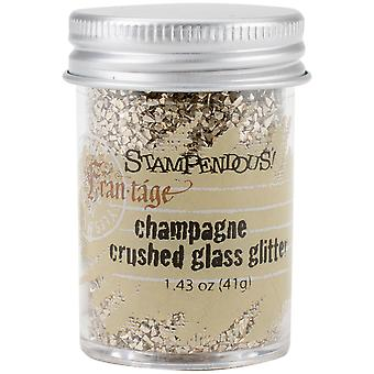 Stampendous Frantage Crushed Glass Glitter 1.41oz-Champagne FRG02C
