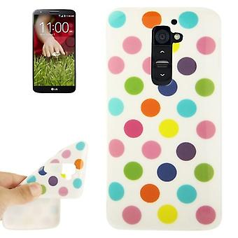 TPU case cover for LG Optimus G2 / D801 white/colored