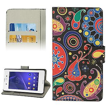 Mobile case bag for mobile phone Sony Xperia E3 color Flash abstract