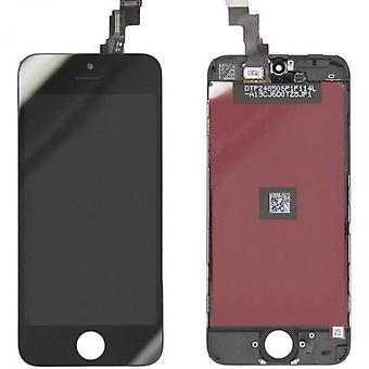 Sharp display unit Apple iPhone 5 c, glass + digitizer + LCD black