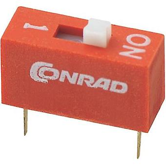 Conrad Components DS-01 DIP Switch, DS Series Standard Number of pins 1 1 x on/off