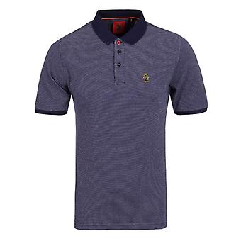Luke 1977 ailes Lux marine blanc manches courtes maille Polo Shirt