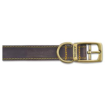 Timberwolf Leather Collar Sable 19mm X35-43cm